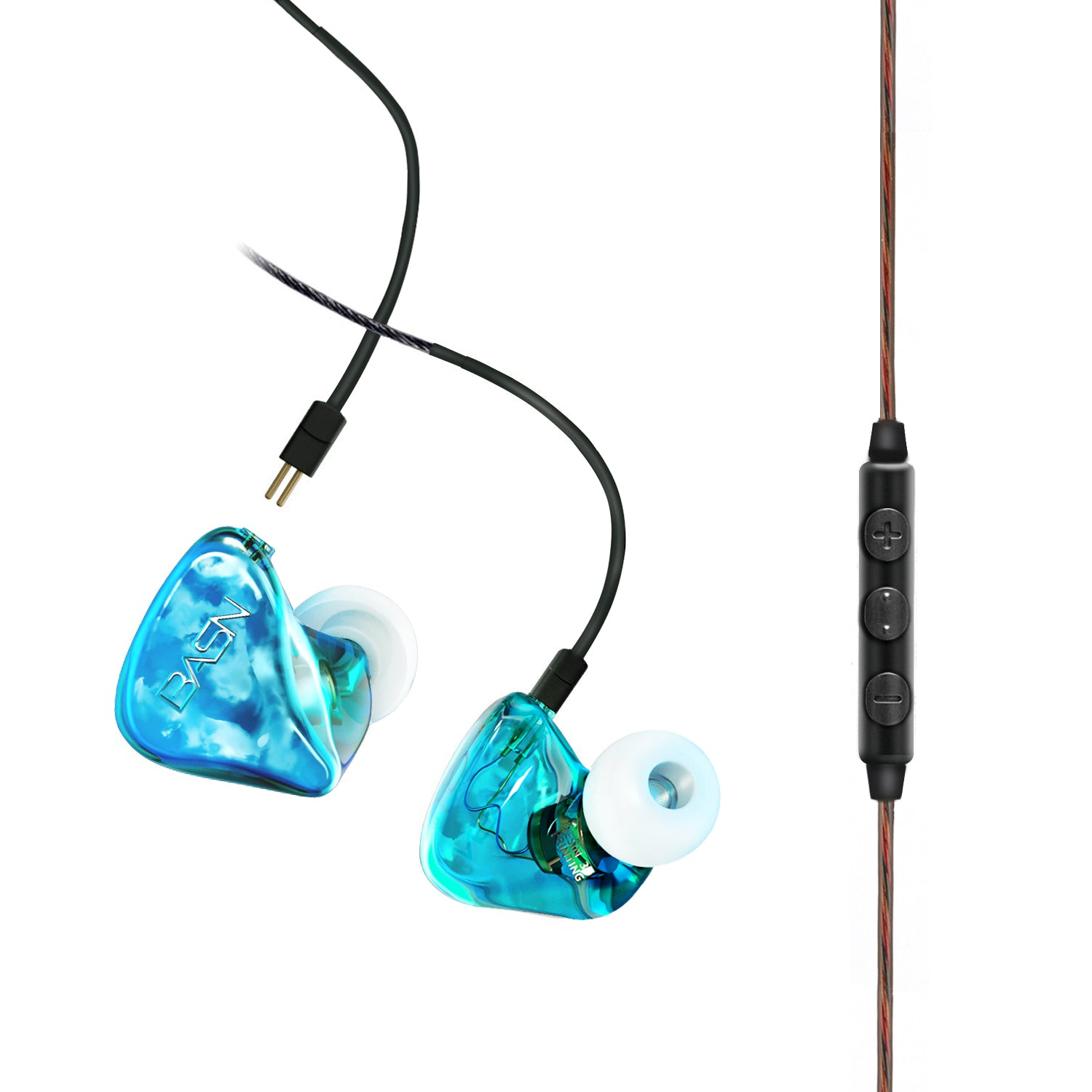 BASN Tempos V In Ear Monitor Headphones Blue