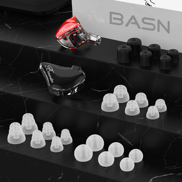 BASN Bmaster Triple Drivers In Ear Monitor Headphones Black