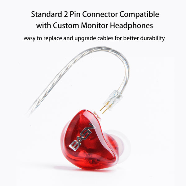 BASN Tempos Pro In Ear Monitors (Red)