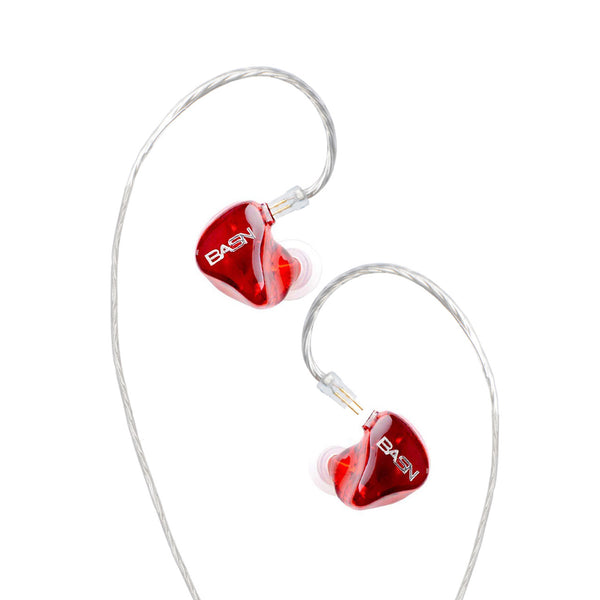 BASN Tempos Pro In Ear Monitor Headphones (Red)