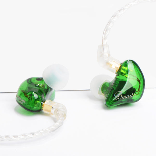 BASN Bmaster Triple Drivers In Ear Monitor Headphones (Green)