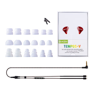 BASN Tempos V In Ear Monitors (Red)