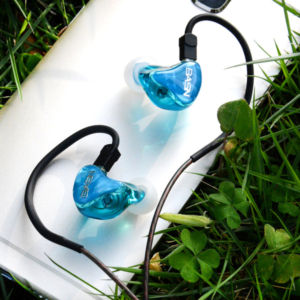 BASN Tempos V In Ear Monitor Headphones (Blue)