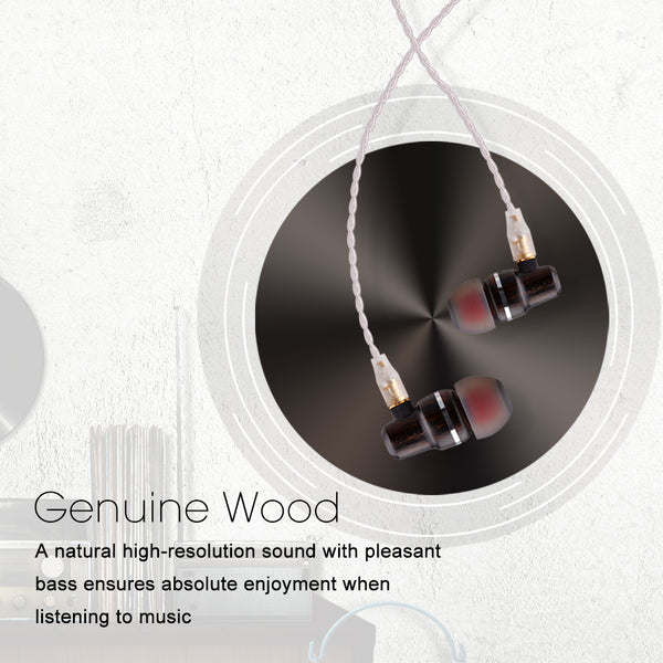 BASN Ebon Lux Wood Earphones