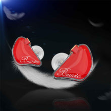 Load image into Gallery viewer, BASN Bmaster Triple Drivers In Ear Monitor Headphones (Red)