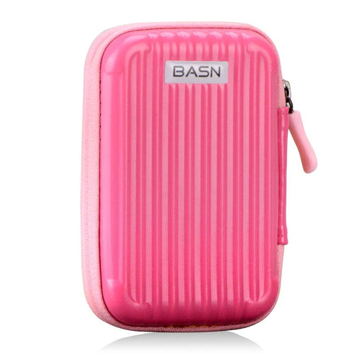 basn bsinger in ear earphones portable fashionable colorful carrying cases for mmcx cables tangle-free