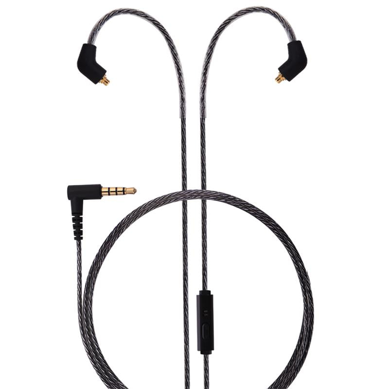 basn mmcx headphone earphone detachable replaceable cable with inline microphone suitable for basn bsinger bmaster metalen shure se215 se315 se425 se535