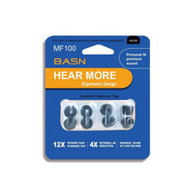 Load image into Gallery viewer,  basn earphones noise isolation replacable secure confortable memory foam tips eartips (S/M/L)