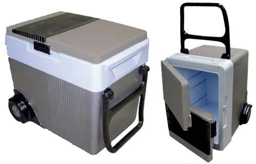 W-65 Koolatron Kargo Wheeler 33 Quart 12 Volt Cooler/Warmer with Wheels W65