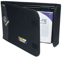 LB-002BK Road Pro Log Book Binder with Slide Rule - Black, 10.5