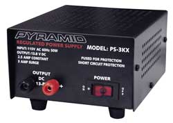 PS3KX Pyramid 2.5 Amp 12 Volt Power Supply