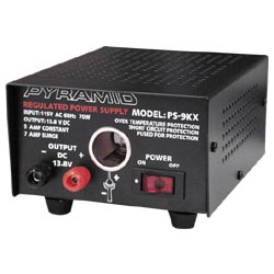 PS9KX Pyramid 5 Amp 12 Volt Power Supply with Cigarette Lighter Socket