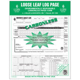 612-MP-25, 612-MP-50, 612-MP-100 J.J. Keller 5-In-1 Duplicate Loose Leaf Carbonless Driver's Daily Log Sheets