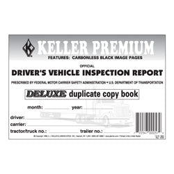 115-B-25, 115-b-50, 115-b-100 J.J. Keller Detailed Carbonless Driver's Vehicle Inspection Report Value Pack