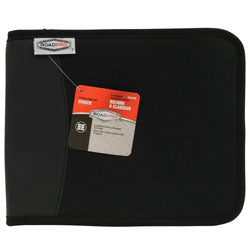 LB-001BK Road Pro 3-Ring Binder for Loose-Leaf Log Sheets - Black, Zippered, 10.5