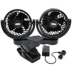RPSC8572 Road Pro 12 Volt Dual Fan with Mounting Clip
