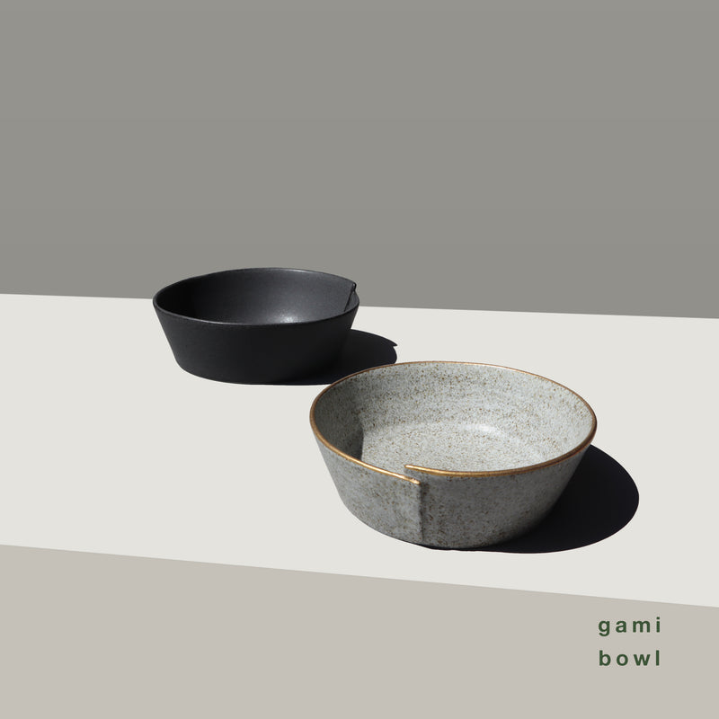dog bowl - gami