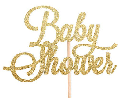 Cotton Candy Parties BABY SHOWER Gold Glitter ACRYLIC Cake Topper