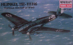 1/144 Heinkel He-111 H6 WW 2 German bomber model aircraft kit.