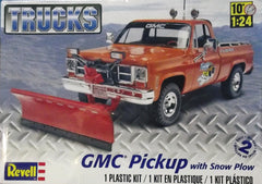 1/24 1970's GMC pickup truck model kit with snow plow attachment.
