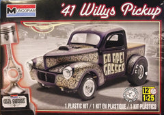 1/25 1941 Willys Gasser pickup model truck kit.