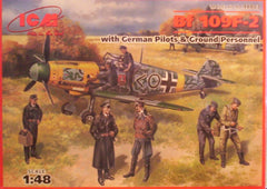 1/48 BF-109F-2 with pilots & ground personal military figures.