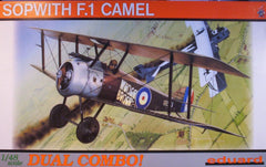 1/48 Sopwith F.1 Camel, Dual Combo military model kit.
