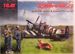 1/48 Spitfire Mk.IX with pilot military figures & personnel.