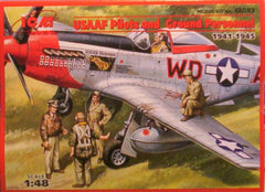 1/48 WW 2 USAAF pilots & personnel military figures.