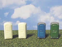 1/64 / HO slot car portable toilets for track layouts.