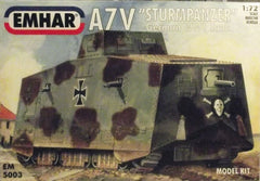 1/72 WW 1 A7V German AFV plastic model kit.