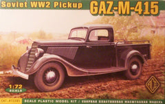 1/72 Gaz-M-415 WW 2 Soviet military pick-up truck model kit.