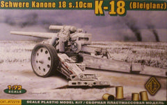 1/72 scale K-18 (Bleiglanz) cannon military model kit.