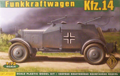 1/72 scale WW 2 German Kfz.14 radio car model kit.
