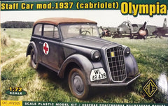 1/72 1937 Olympia cabriolet German staff car model kit.