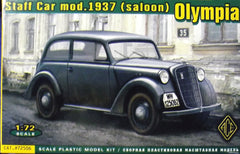 1/72 scale German Opel 2 - door staff model car kit.