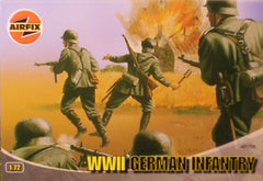 1/72 scale WW 2 German Infantry military figures.