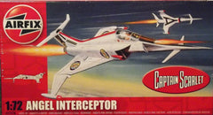 1/72 scale Angel Interceptor jet plastic model kit.