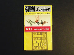 1/72 Photo - etched luggage trollies diorama accessory.