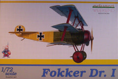 1/72 Fokker Dr.1 Weekend Edition military model airplane kit.