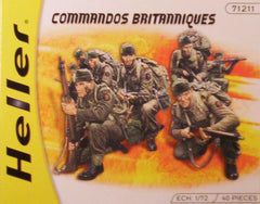1/72 WW 2 British Commando military figures.