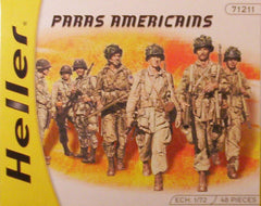 1/72 WW 2 U.S. Paratroopers military figures.