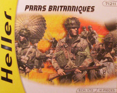 1/72 WW 2 British Paratrooper military figures.