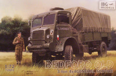 1/72 WW 2 Bedford QLD 3-ton 4 x 4 truck model kit.