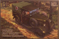 1/72 Polski Fiat 508 /111 Ambulance model truck kit.