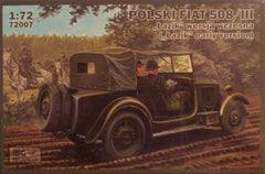 1/72 Polski Fiat 508/111 Early military model car kit.
