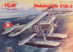 1/72 Heinkel He 51B - 2 floatplane model aircraft kit.
