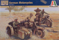 1/72 WW 2 German motorcycles military model kit.