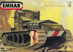 "WW 1 ""Whippet"" AFV plastic model kit."