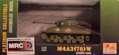 1/72 M4A3 (76) W U.S. Army Sherman AFV model.